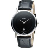 ORIENT 東方錶簡約時尚石英錶 FGW01009B 黑色