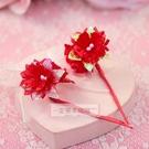 一定要幸福哦~~春仔花(大紅色)、婚禮小物、婚俗用品