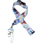 小禮堂 迪士尼 冰雪奇緣 多功能頸繩 (藍並肩款) 4548626-11521
