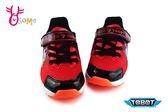 機器戰士 TOBOT 運動鞋 男童 輕量 電燈鞋 F8185#紅色◆OSOME奧森鞋業