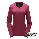 PolarStar 女 竹炭吸排長袖圓領衫『桃紅』P17210 機能衣│刷毛衣排汗│透氣│輕量
