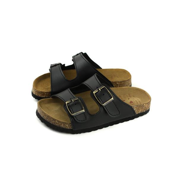 童鞋 勃肯鞋 涼鞋 拖鞋式 黑色 中童 7005-99 no023