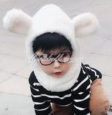嬰兒帽秋冬季男童女童寶寶帽子兒童圍脖一體圍巾加絨保暖護耳帽潮    蜜拉貝爾