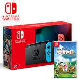 【預購NS組合-9月到貨】任天堂 New Switch 新版紅藍主機+哆啦A夢 牧場物語