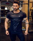 店長推薦肌肉兄弟健身T恤男彈力緊身速干籃球打底短袖跑步健身房訓練上衣t