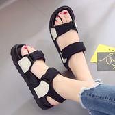韓版厚底大碼涼鞋 米蘭shoe