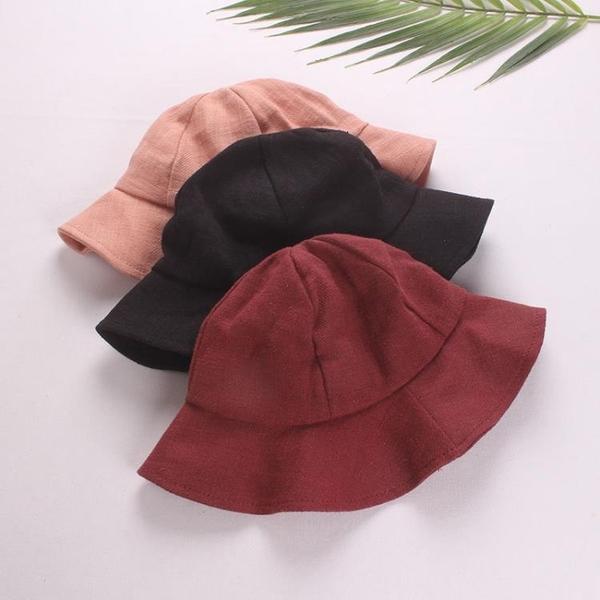 全館83折 嬰兒帽子寶寶漁夫帽春夏兒童盆帽防曬遮陽帽太陽帽純棉3-12個月