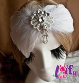 得來福,k548新娘髮飾水鑽造型羽毛髮夾結婚頭飾,1個售價250元