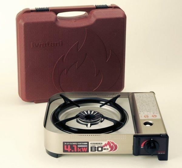 日本品牌 IWATANI CB-AH-41 岩谷瓦斯爐 野炊/露營/登山 附硬式盒