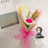 皂花花束 禮物向日葵一支送女友生日肥皂花仿真玫瑰單支香皂花束新年T 7色