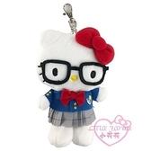 小花花日本精品HelloKitty 美樂蒂 學生制服 絨毛玩偶吊飾 玩偶鑰匙圈~3