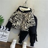 男童套裝 兒童裝男童套裝春裝2021新款寶寶帥氣加絨加厚秋裝洋氣兩件套【快速出貨八折搶購】