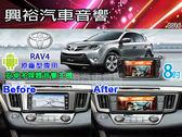 【專車專款】2013~2014年TOYOTA RAV4適用8吋彩色液晶全觸控DVD主機