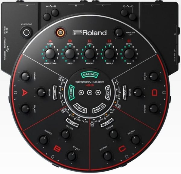 【金聲樂器】ROLAND HS-5 HS5 Session Mixer 靜音練團室 混音座 排練/錄音 混音器