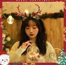 聖誕髮飾 圣誕節飾品大鹿角頭箍甜美髮飾仙...