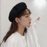 貝雷帽 貝雷帽女夏季薄款透氣黑色ins八角帽網紅韓版日系英倫復古畫家帽