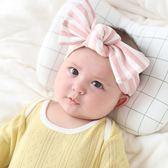 UNICO 兒童超質感純棉條紋蝴蝶結髮帶/髮飾