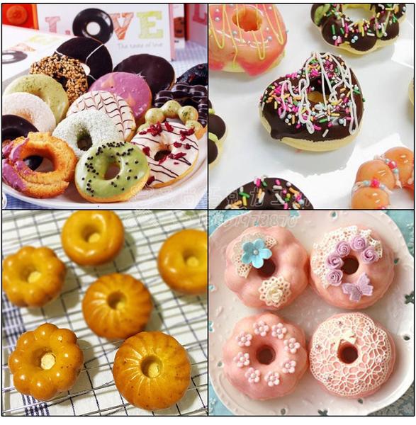 6連 甜甜圈矽膠模 巧克力甜甜圈矽膠模具【M023】蛋糕烘焙模具 布丁果凍軟糖模具 冰塊模 製冰