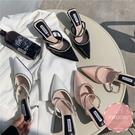 穆勒鞋 水鑽滾邊氣質款 懶人鞋 涼鞋 拖鞋*KWOOMI-A45