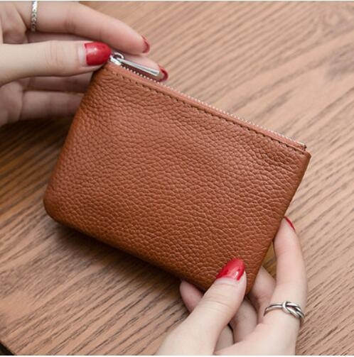 牛皮男女迷你零錢包超薄真皮拉鏈硬幣包短款小錢包手鑰匙包卡包女 創意新品