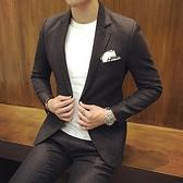 西裝套裝含西裝外套+西裝褲(二件套)-簡約成熟穩重型男伴郎男西服73hc27[時尚巴黎]