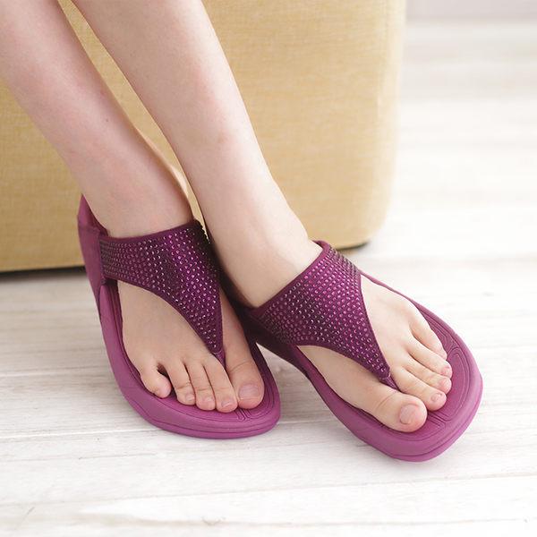 厚底女涼鞋 紫 夏季 女款涼鞋《生活美學》