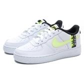 NIKE 休閒鞋 AIR FORCE1 WORLDWIDE 白 黃 地球 刺繡 大童 女(布魯克林) CN8536-100