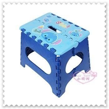 迪士尼 星際寶貝 史迪奇 藍色 矮凳椅 摺疊椅 小板凳