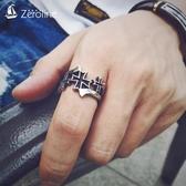 ZEROLINE潮牌時尚十字架戒指日韓鈦鋼食指環耶穌信仰男女情侶對戒