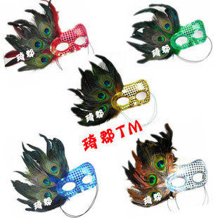 COS羽毛表演羽毛面具