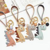 鑰匙扣 鑰匙扣韓國可愛創意小恐龍鏈卡通掛件汽車男女士情侶包包簡約潮流ღ夏茉生活