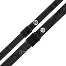 Watchband / 8.10mm / 各品牌通用 細緻透亮 輕巧耐用 米蘭編織不鏽鋼錶帶 黑色 #849-21-BK