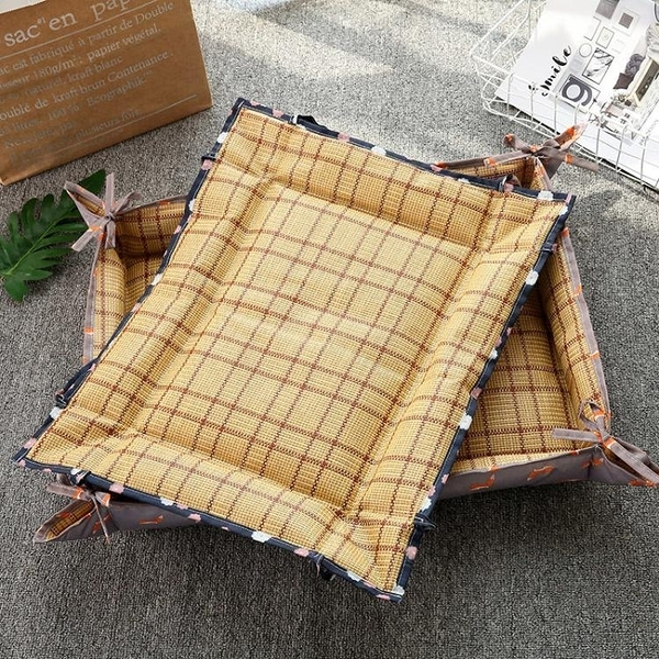 一佳寵物館 夏季新款狗貓窩床墊子網紅涼席窩可水洗泰迪中小型犬夏天寵物用品