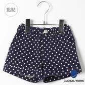 GLOBAL WORK童棉質滿版花朵印花造型鬆緊打褶前後口袋短褲-三色