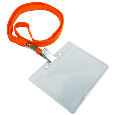 無印字證件套/派司套/識別套+布帶整組 橘台製