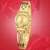 石英錶-鑲鑽時尚潮流手鍊造型女手錶71r39[時尚巴黎]