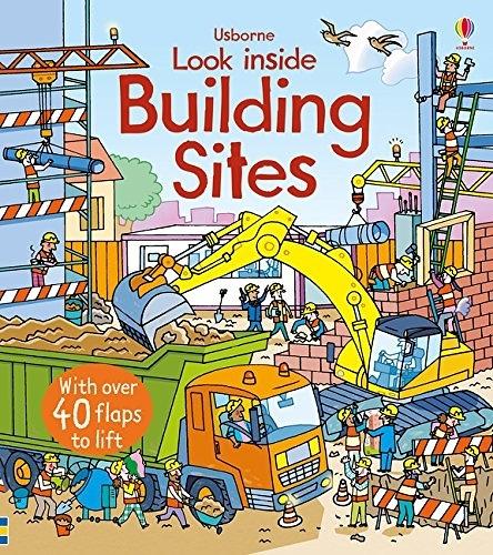 【麥克書店】LOOK INSIDE BUILDING SITES/ 英文繪本硬頁書《主題:科學環境社會文化》