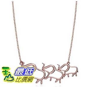 [美國直購] Sterling Silver Elephant Family Necklace, 18 項鍊