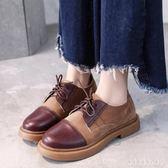 大碼紳士鞋 女平底韓版學生百搭英倫風單鞋系帶學院風復古英倫皮鞋女  XY6157【KIKIKOKO】