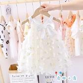 女童公主裙洋裝夏季蓬蓬紗連身裙【奇趣小屋】