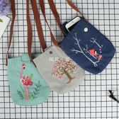 刺繡diy斜挎包孕期手工創意制作森女系布藝材料包歐式立體零錢包