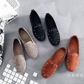 豆豆鞋老北京布鞋女鞋平底軟底豆豆鞋單鞋時尚舒適孕婦鞋黑色工作鞋【週年慶免運八折】