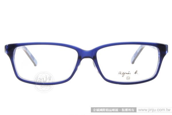 agnes b.光學眼鏡 AB2094 EBA (藍) 休閒簡約普普風格經典百搭款 # 金橘眼鏡