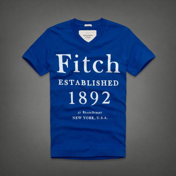 BJGO) Abercrombie & Fitch_A&F_男裝_Wallface Mountain Tee 經典麋鹿-1892 V領T恤   2013-6月 新品現貨
