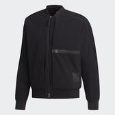 ADIDAS U1 JKT BOMB 男裝 外套 立領 風衣 休閒 保暖 拉鍊口袋 反光細節 黑【運動世界】FJ0246