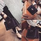 包包女2019新款韓版手提包大包潮簡約時尚單肩包錬條斜挎包女包包