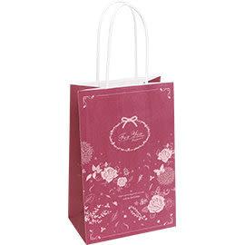 《荷包袋》手提紙袋大8K 復刻玫瑰-紅(紙繩)