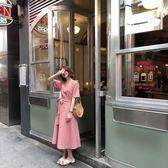 2018夏季正韓新品溫柔可愛V領格子短袖挺版洋裝長洋裝學生女 均碼 【快速出貨八五折鉅惠】