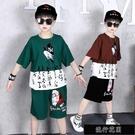 兒童夏天衣服網紅套裝運動男孩中袖童裝加肥加大男童夏季短袖【全館免運】