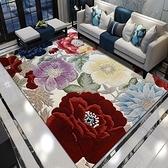 【三房兩廳】生活簡單快樂水晶絨加大地毯140x200cm(多款任選)色彩花博